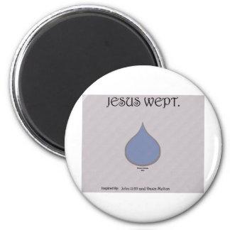 Jesús lloró imán redondo 5 cm