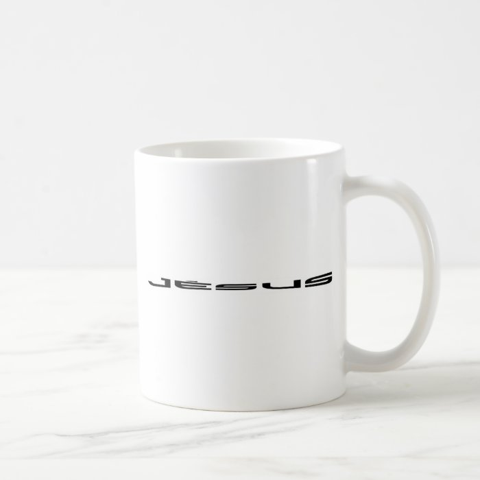 Jésus long noir coffee mug