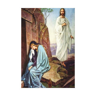 Jesus looking at women Wrapped Canvas