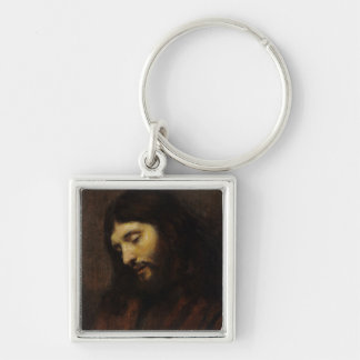 Jesus Looking Downward Keychain