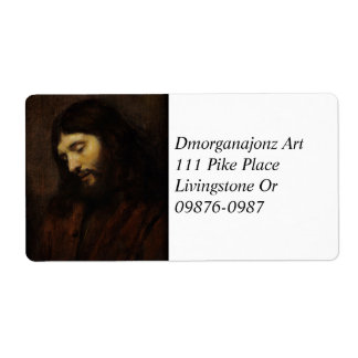 Jesus Looking Downward Shipping Label