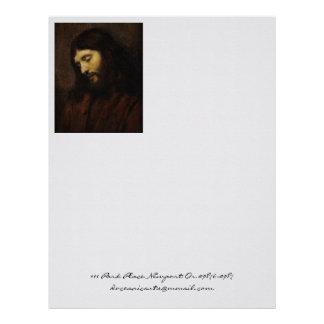 Jesus Looking Downward Letterhead