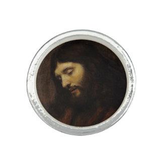 Jesus Looking Downward Photo Rings