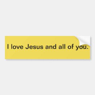 Jesus Love Bumper Sticker