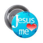 Jesus Love Me 2 Inch Round Button