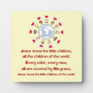 Jesus Love the Little Children Plaque