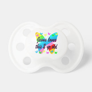 JESUS LOVE THIS 2 YR OLD BUTTERFLY DESIGN PACIFIER
