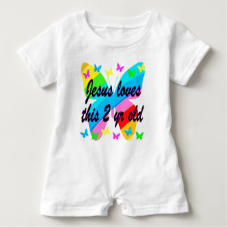JESUS LOVE THIS 2 YR OLD BUTTERFLY DESIGN TEE SHIRT
