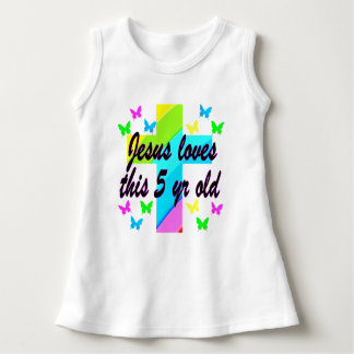 JESUS LOVE THIS 5 YEAR OLD CHRISTIAN 5TH BIRTHDAY INFANT DRESS