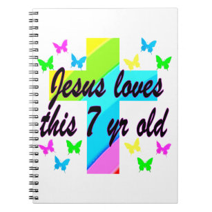 JESUS LOVE THIS 7 YEAR OLD 7TH BIRTHDAY DESIGN NOTEBOOK