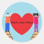Jesus Loves Always Sticker