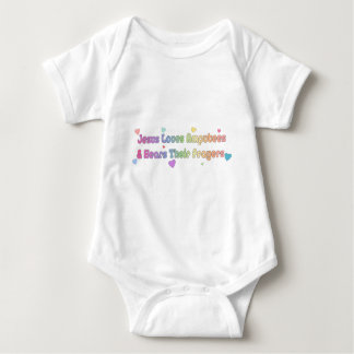 Jesus Loves Amputees and hears Prayer Baby Bodysuit
