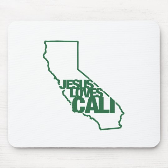 Jesus Loves California Mouse Pad
