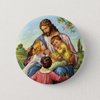 Jesus Loves Children Button