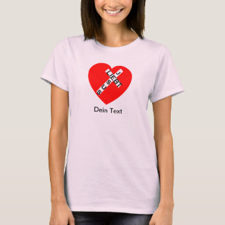 Jesus loves - collecting main - your text T-Shirt