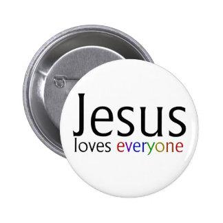 Jesus Loves Everyone Pinback Button