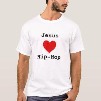 jesus loves hip hop with elements on  back  T-Shirt
