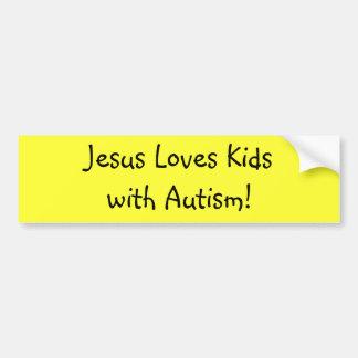 Jesus Loves Kidswith Autism! Bumper Sticker