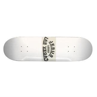 jesus loves las vegas skateboard deck