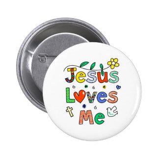 Jesus Loves Me 2 Inch Round Button