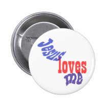 Jesus Loves Me Button