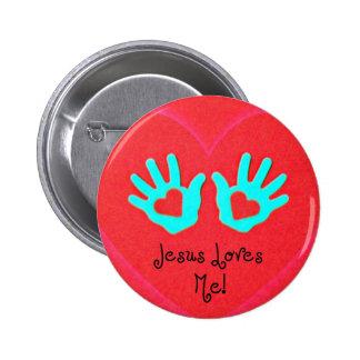 Jesus loves me! button