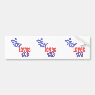 Jesus Loves Me Car Bumper Sticker