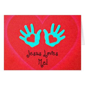 Jesus loves me! greeting card