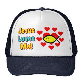 """Jesus Loves Me"" Christian Fish Hat"