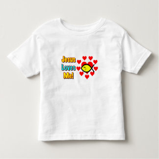 """Jesus Loves Me"" Christian Fish Toddlers Shirt"