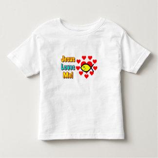 """Jesus Loves Me"" Christian Fish Toddlers Shirt"