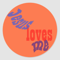 Jesus Loves Me Classic Round Sticker