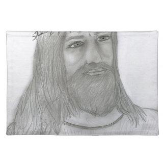 Jesus Loves Me Cloth Placemat
