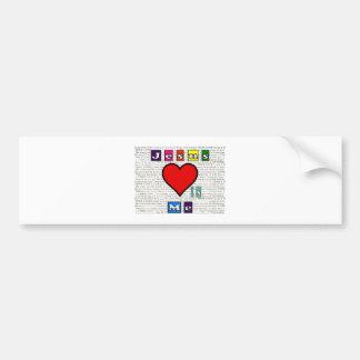 Jesus Loves Me Collection Bumper Sticker