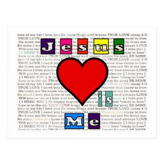 Jesus Loves Me Collection Postcard