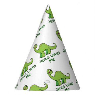 Jesus Loves Me Dinosaur Party Hat