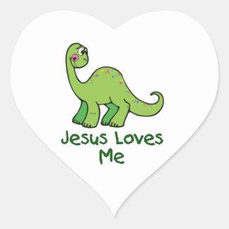 Jesus Loves Me Dinosaur Stickers