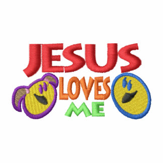 Jesus Loves Me Embroidered Hoody