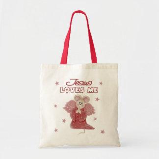 Jesus Loves Me, Girl Budget Tote Bag