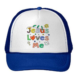 Jesus Loves Me Trucker Hats