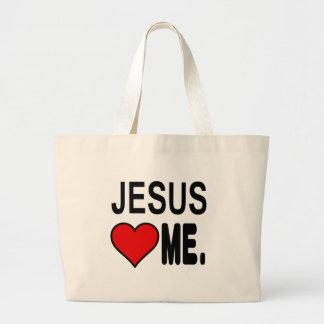 Jesus Loves Me Jesus Gifts Jumbo Tote Bag