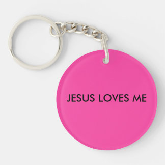 Jesus Loves Me Keychain