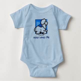 Jesus Loves Me Lamb Baby Bodysuit