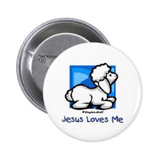 Jesus Loves Me Lamb Pinback Button