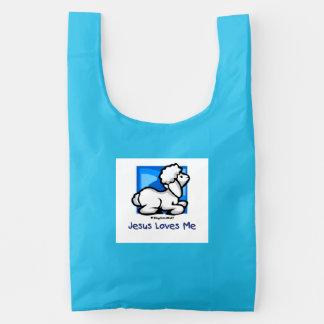 Jesus Loves Me Lamb Reusable Bag