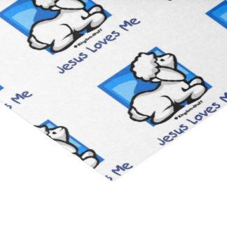 Jesus Loves Me Lamb Tissue Paper
