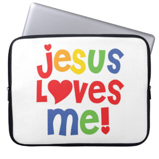 Jesus Loves Me laptop sleeve