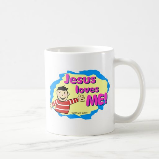 Jesus loves me little boy Christian design Coffee Mug
