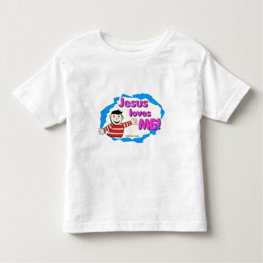 Jesus loves me little boy Christian design Tee Shirt
