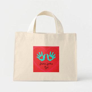 Jesus loves me! mini tote bag